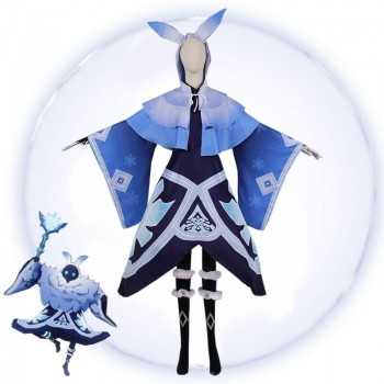 Game Genshin Impact Abyss Mages Cryo Cosplay Costume