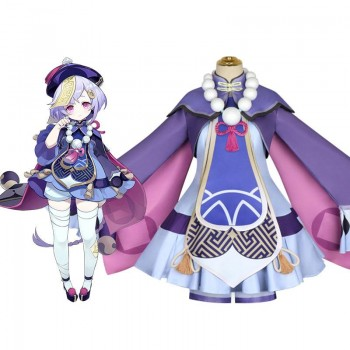 Game Genshin Impact Qiqi: Icy Resurrection Cosplay Costume