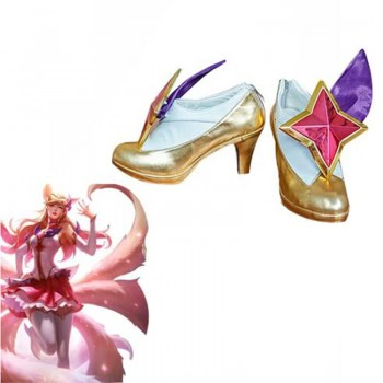 LOL Ahri White Game Zapatos de Cosplay