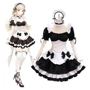 Game Miracle Nikki Lolita Maid Cosplay Costume