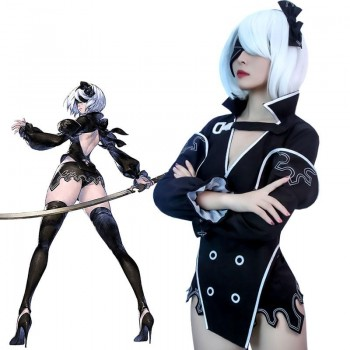 NieR automata Re in carnation 2B Halloween Carnival Cosplay Costume