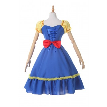 Blancanieves vestido azul Anime Cosplay Disfraces