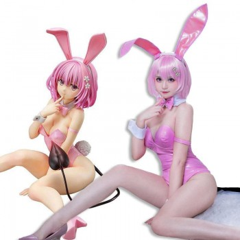 To Love Ru Golden Darkness Momo Belia Deviluke Pink Bunny Girl Cospaly Costume