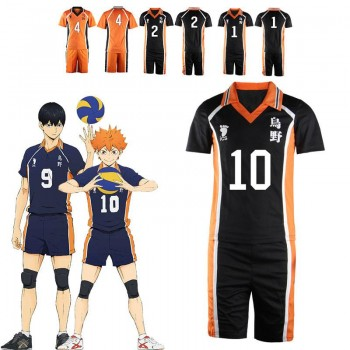 Haikyū!! Karasuno High Hinata Shoyo Number 1-12 Volleyball Sports Cosplay Costumes