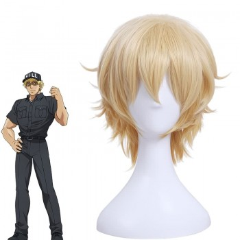 Hataraku Saibou Cells At Work Killer T Saibou Short Blonde Cosplay Wigs