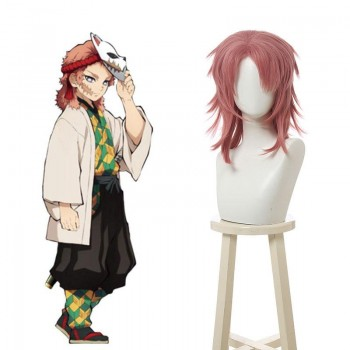 Demon Slayer Sabito Orange Pink Cosplay Wigs