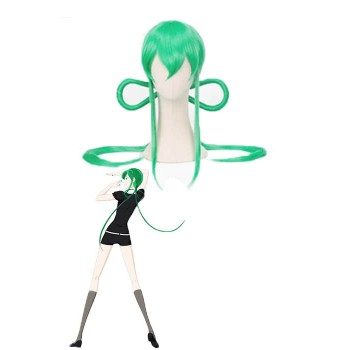 Tierra del lustroso Houseki no Kuni Jade Long Green Anime Pelucas Cosplay