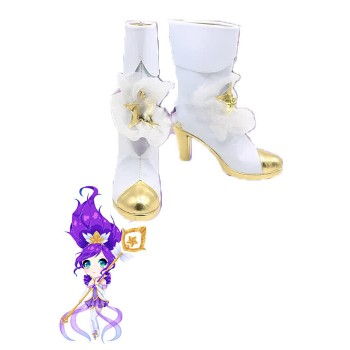 Game LOL Star Guardian Janna Cosplay Shoes Boots