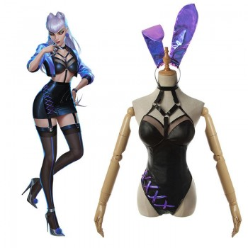 LOL KDA ALL OUT Evelynn Bunny Girl Cosplay Costume