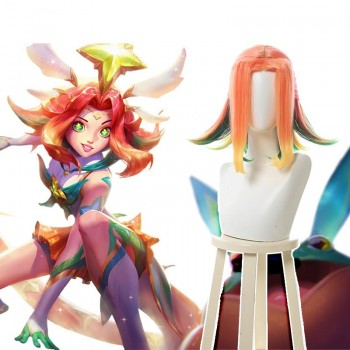 LOL Star Guardian Neeko Mixed Color Cosplay Wigs