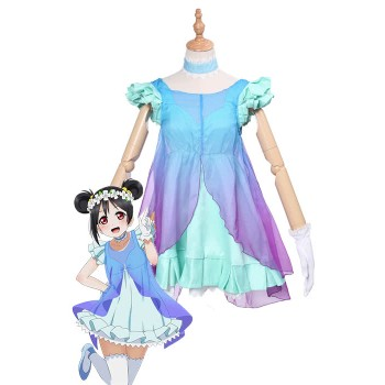 Love Live! Yume No Tobira Nico Yazawa Green Anime Coaplay Dress