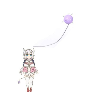 Miss Kobayashi's Dragon Maid Kanna Kobayashi Purple Cosplay Dragon Tail
