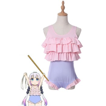 Miss Kobayashi's Dragon Maid Kanna Kobayashi Cosplay Swimming Suit