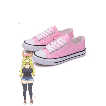 Miss Kobayashi's Dragon Maid Quetzalcoatl Lucoa Pink Cosplay Shoes