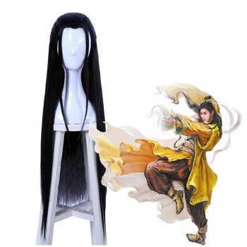 70cm Long Game Liuxiang Chu Cosplay Black Straight Wigs