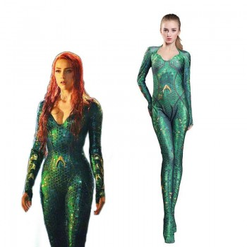 Movie Mera Jumpsuit Cosplay Costume