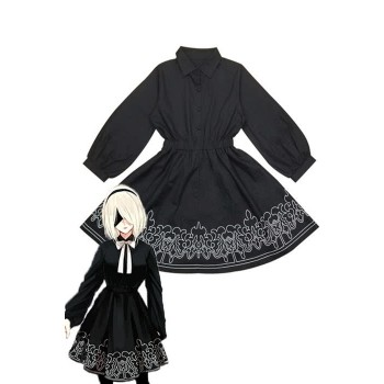 Video Game Nier: Automata Game 2b Dress Cosplay Costumes