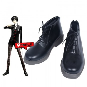 Persona 5 Joker Anime Black Shoes  Game Cosplay Shoes