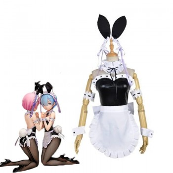 Re:ZERO -Starting Life in Another World Rem Ram Anime Bunny Girl Cosplay Costumes