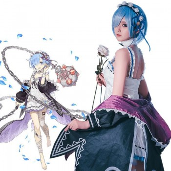 Re:ZERO -Starting Life in Another World Rem Ram Cosplay Costume