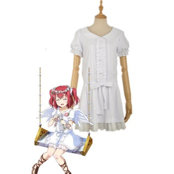 Love Live Sunshine Angel Aqours Unawaken Ruby Kurosawa Vestido Blanco Anime Cosplay Disfraces