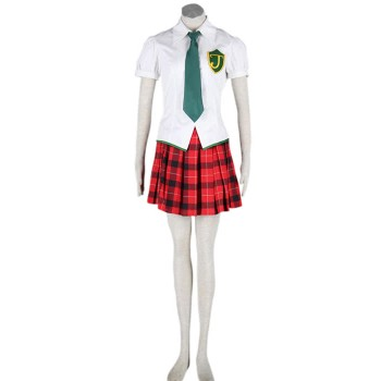 Traje de Cosplay Neon Genesis Evangelion Makinami Mari Illustrious shool uniforme