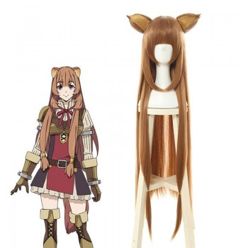 The Rising of the Shield Hero Raphtalia Brown Long Cosplay Wigs
