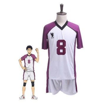Haikyuu! Tsutomu Goshiki Shiratorizawa Academy Cosplay Sports Uniform Costumes