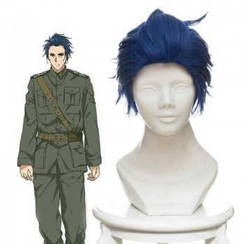 Violet Evergarden Gilbert Bougainvillea Short Mixed Blue Anime Cosplay Man Wigs