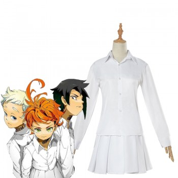 The Promised Neverland Emma White Shirt Skirt Cosplay Costume