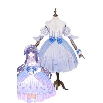 Cardcaptor Sakura Tomoyo Daidouji Lolita Blue Dress Disfraces Cosplay