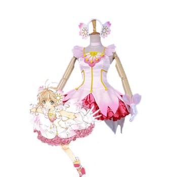 Cardcaptor Sakura Sakura Kinomoto Clear Card Pink Dress Disfraces Cosplay
