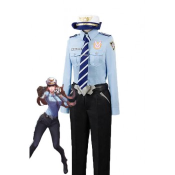 Overwatch Juego D.Va Hana Song Woman Police Officer Cosplay Disfraces