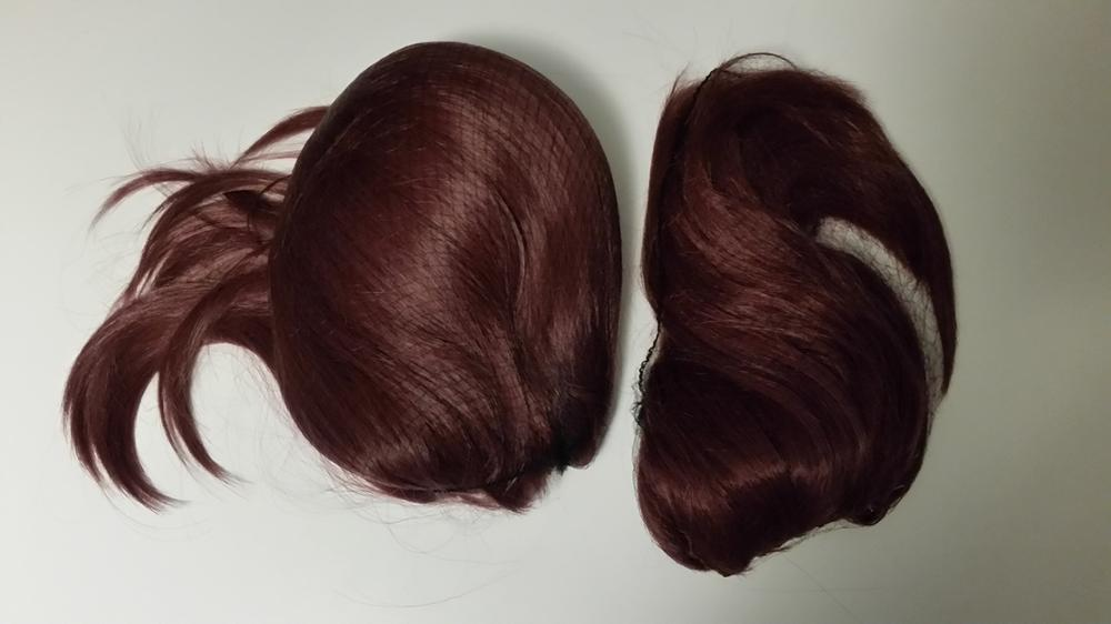 The wig came after 3 weeks since making an order. It's the same as described. I'm very satisfied :) The wig has beautiful color and is nice in touch. It doesn't smell at all which is good. It came well packaged. I recommend this wig! <3