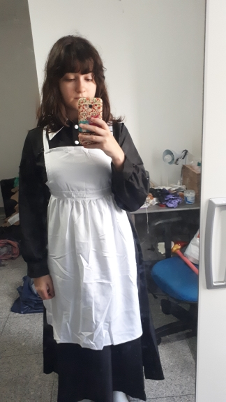 THE dress is good quality, but the apron is weak